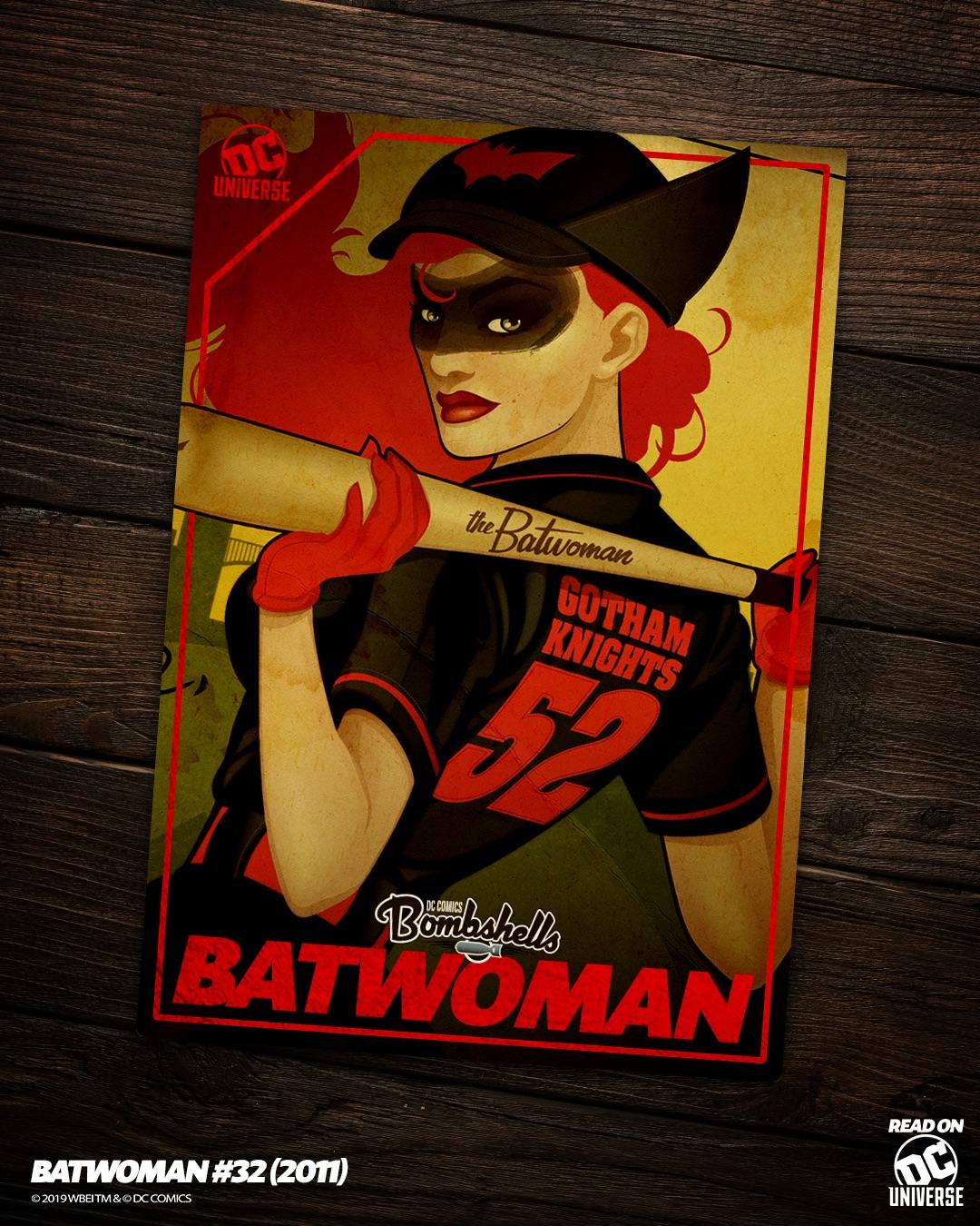 Batwoman Bombshells baseball card