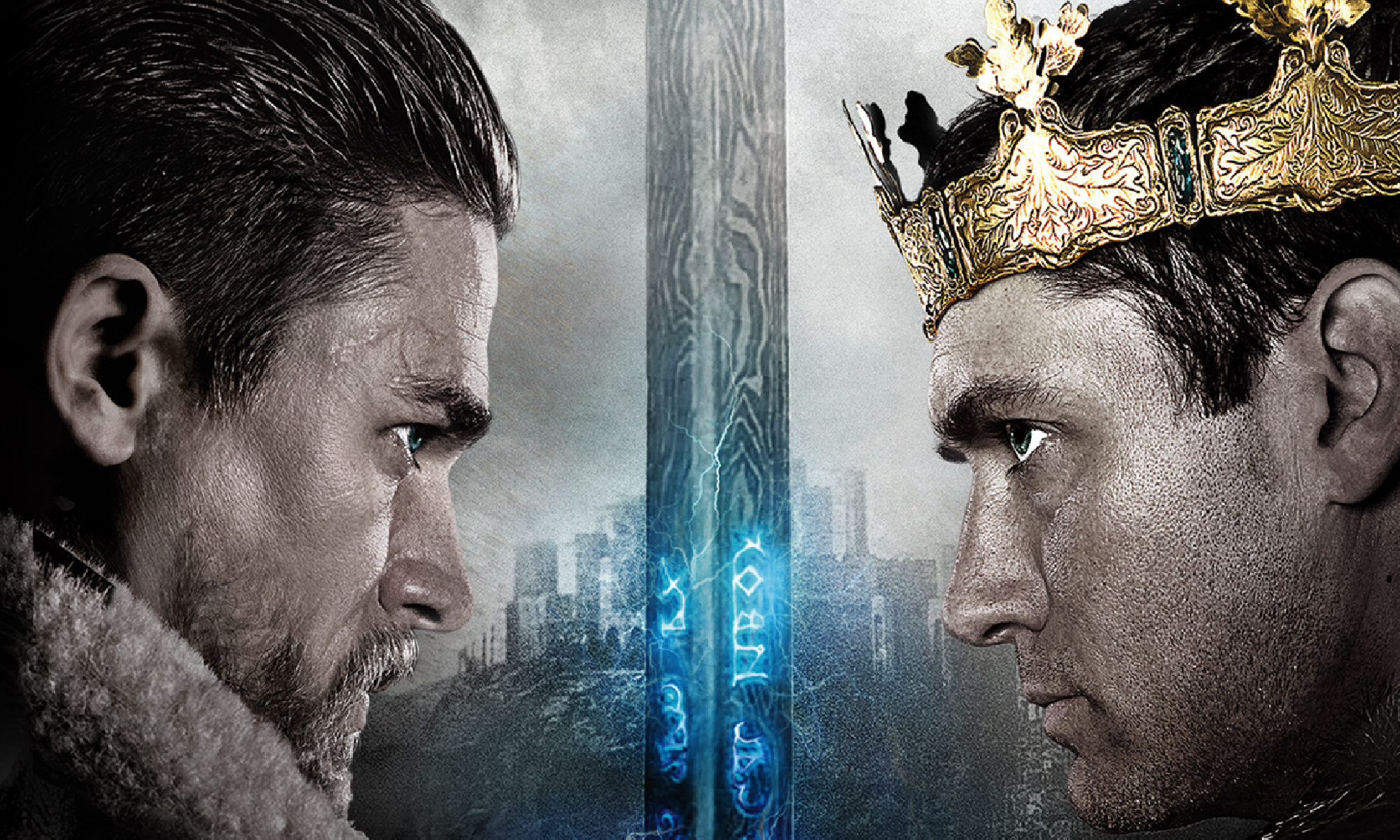 Charlie Hunnam and Jude law star in Warner Bros.' King Arthur: Legend of the Sword