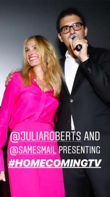 Julia Roberts and Sam Esmail