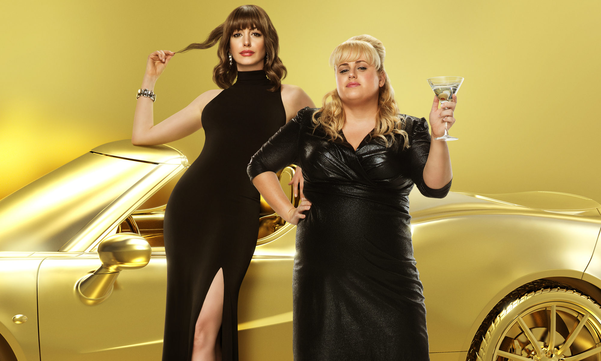 Anne Hathaway and Rebel Wilson star in The Hustle