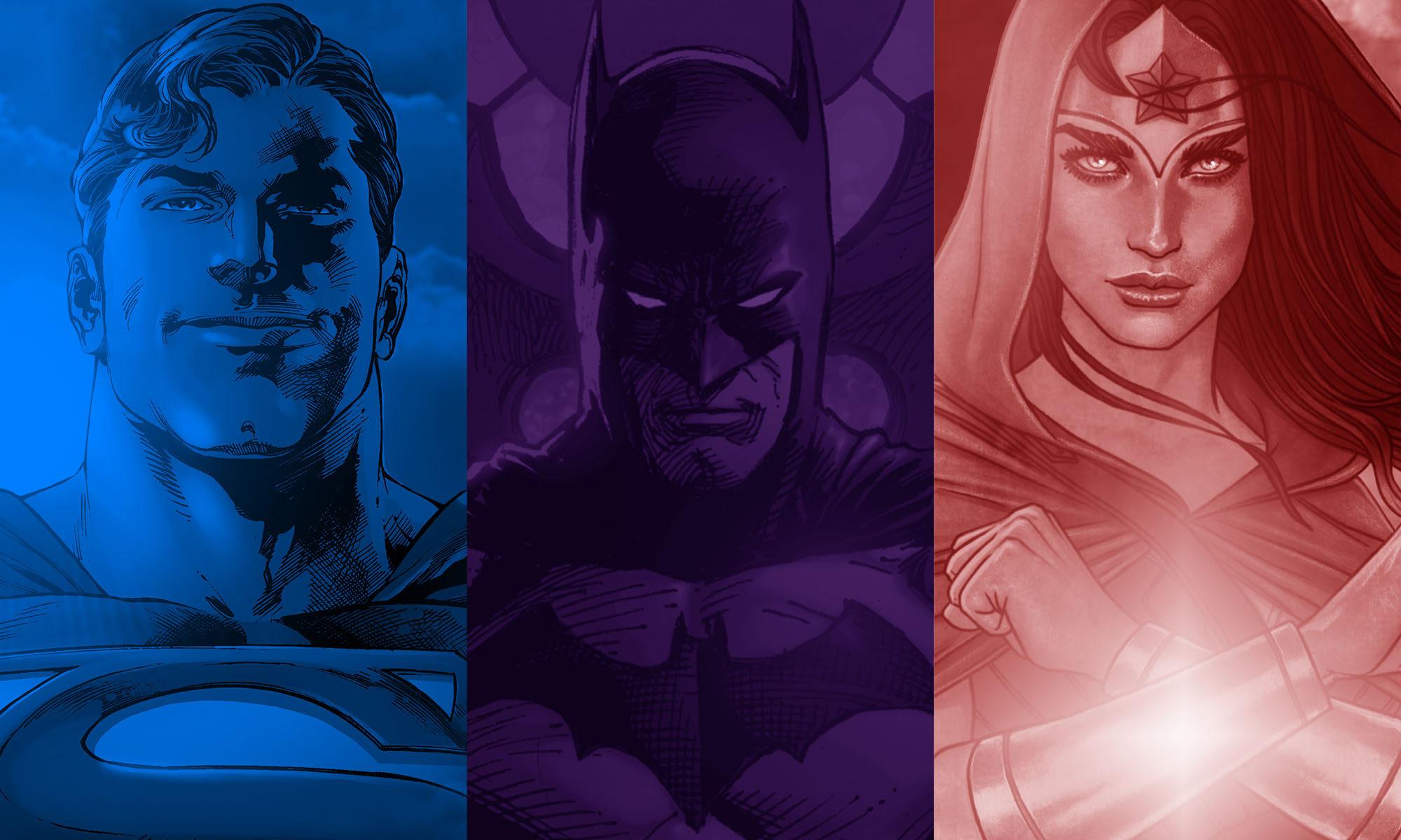 Superman, Batmat, Wonder Woman