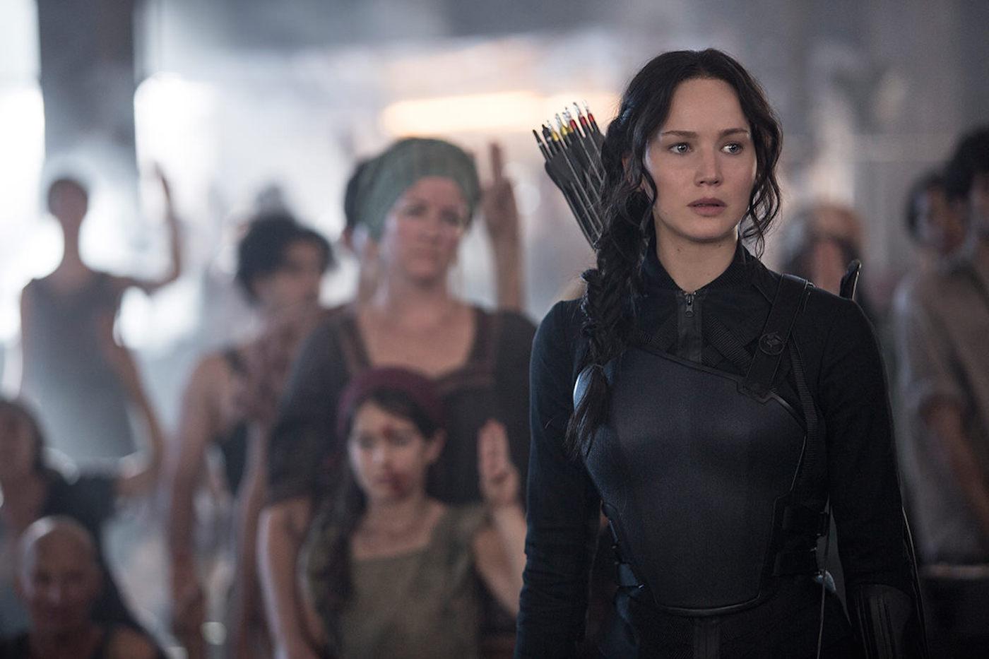 Jennifer Lawrence stars in Lionsgate's The Hunger Games: Mockingjay - Part 1