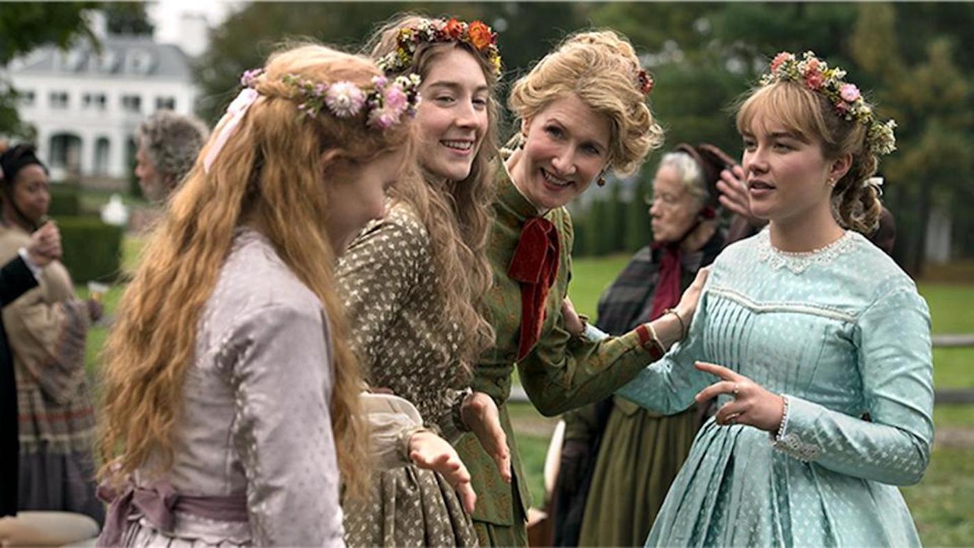Saoirse Ronan, Florence Pugh, Laura Dern, and Eliza Scanlen star in Greta Gerwig's Little Women