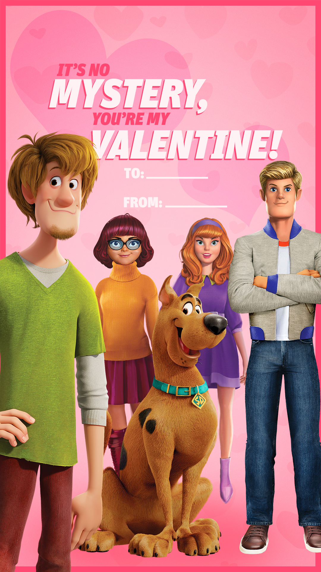 SCOOB Mystery Gang Valentine's Day Card